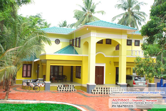 3000 sq ft. house elevation in Kerala