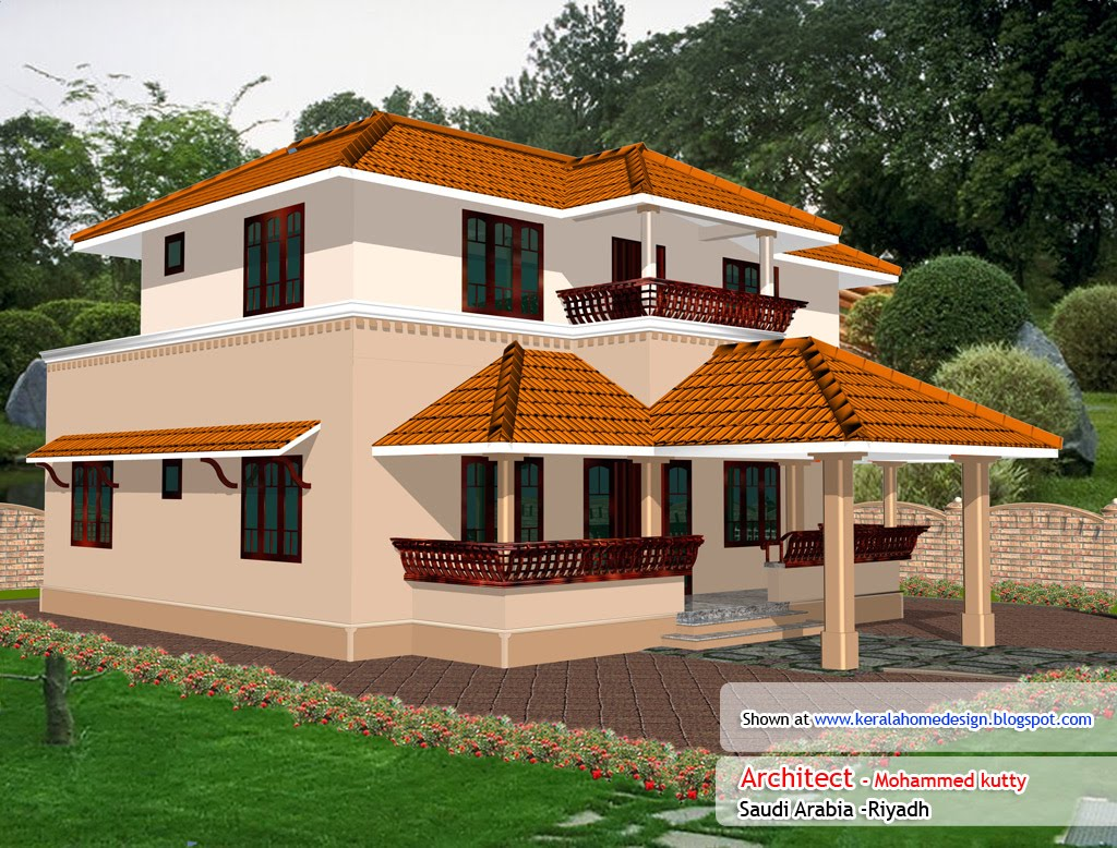Kerala home plan and elevation 1936 sq ft home appliance for Elevation of kerala homes
