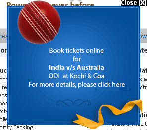 Kochi ODI Tickets - Buy it online from Federal Bank