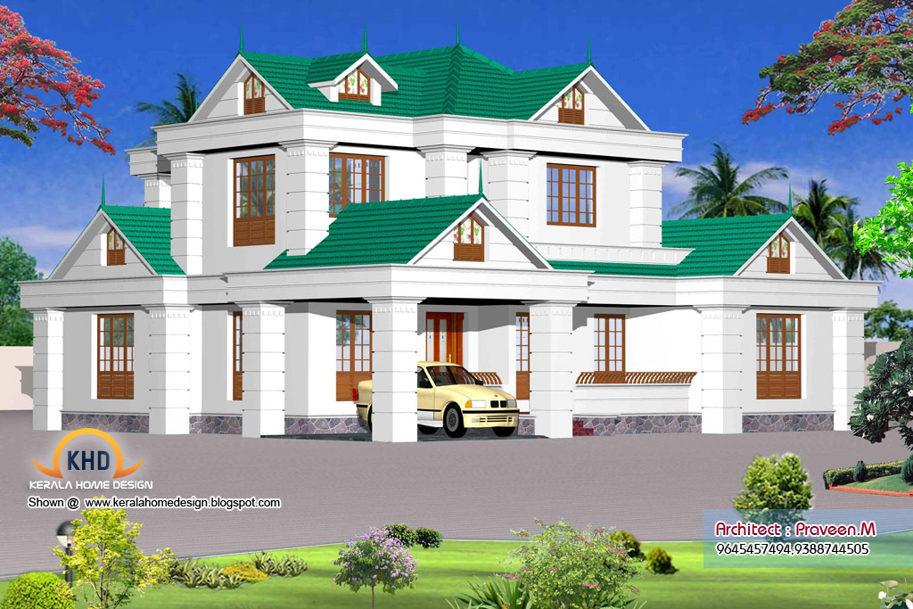 Home plan and elevation - 2228 Sq. Ft | home appliance