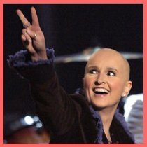 Melissa Etheridge with a shaved head