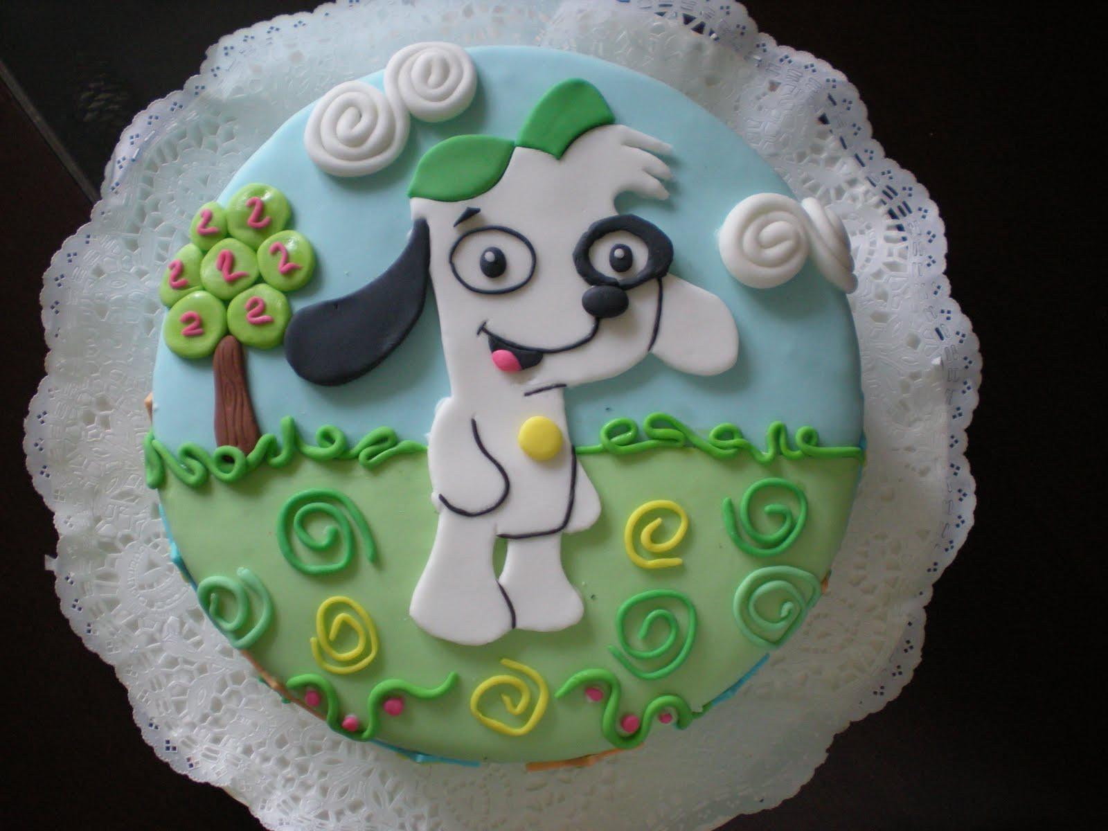 Tortas:::Decotortas: Torta Doki -decoración plana-