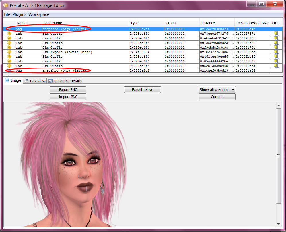 How to change pictures in CAS / Sim Bin - Tutorial 06+Select-+PNG