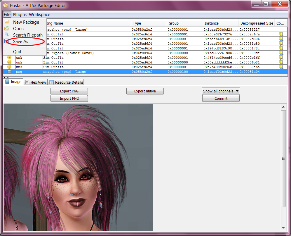 How to change pictures in CAS / Sim Bin - Tutorial 11+Save+As