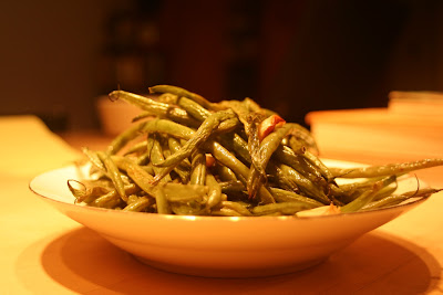 roasted string beans with onions