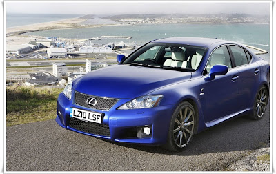 2011 lexus is f front angle view