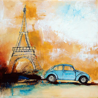 sightseer, paris,travel,eiffel tower,beetle,bug,volkswagen