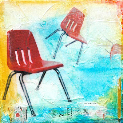 retro,chair,I'll tumble for you,art,6x6 gallery,exhibition,new york city,painting,original