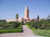Morocco Marrakech Koutoubia mosque From Garden/المغرب مراكش  الكتبية - جامع في الحديقة