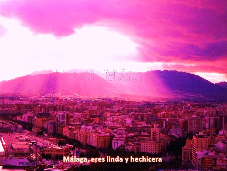 Foto de atardecer en Málaga España