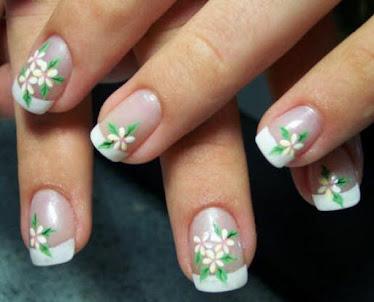 Manicure com unhas decoradas!!Que mimo!!