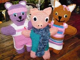 süß und handgemacht -  Häkeltiere für Kinder