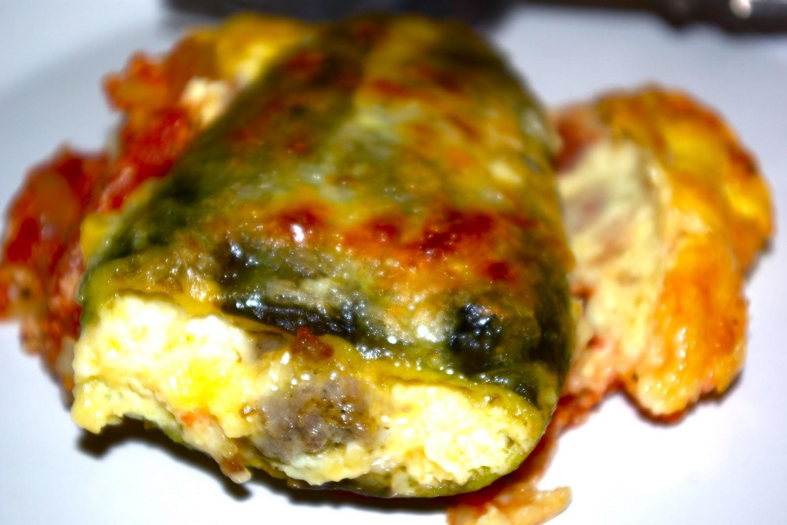 me&three bellies: chile rellenos casserole
