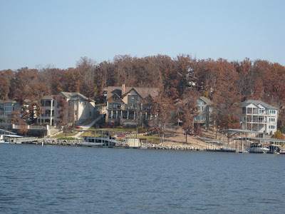 homes one on top of the other at the Lake of the  Ozarks