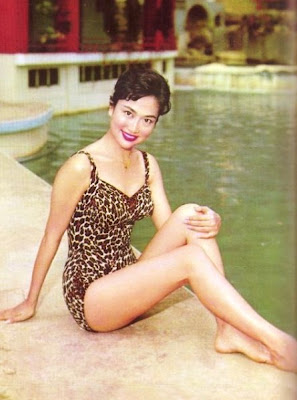 Grace Chang and Her Leopard Print Swimsuit