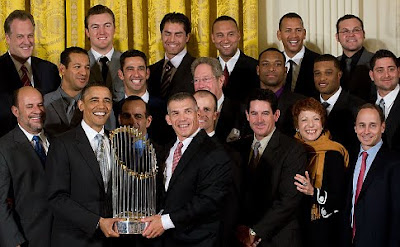 Barack Obama welcomes Yankees