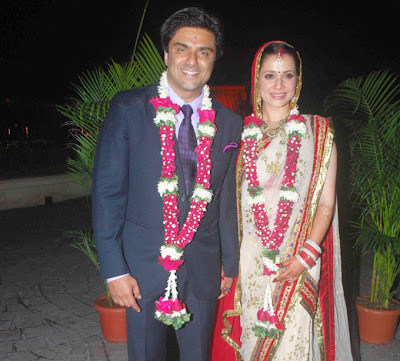 Samir Soni - Neelam Kothari Wedding Reception