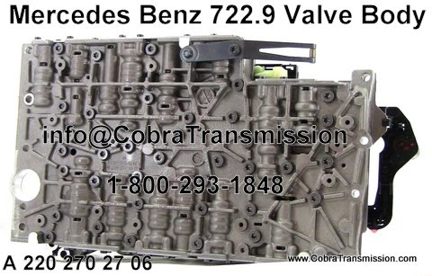 Cobra Transmission Parts 1-800-293-1848: And Now The MB 722.9 Valve Body