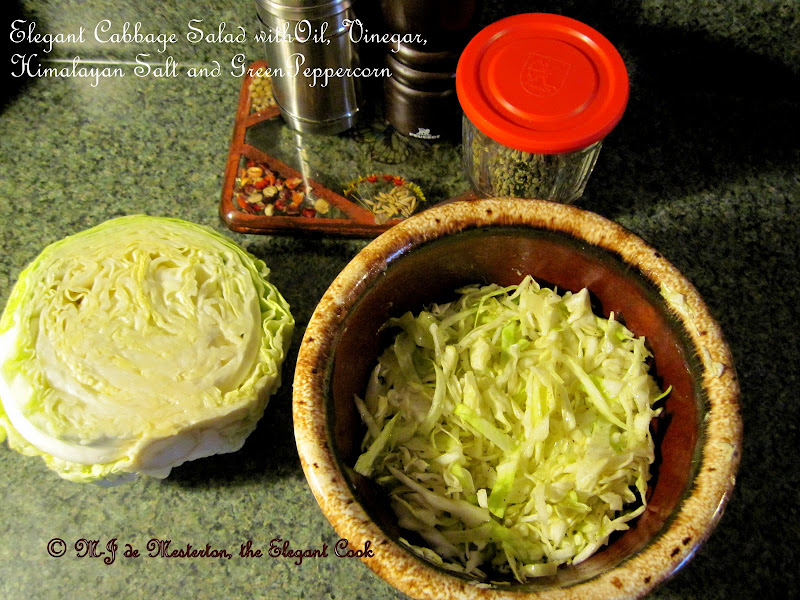 Green cabbage can be marinated in a salad European-style, stuffed as c  title=