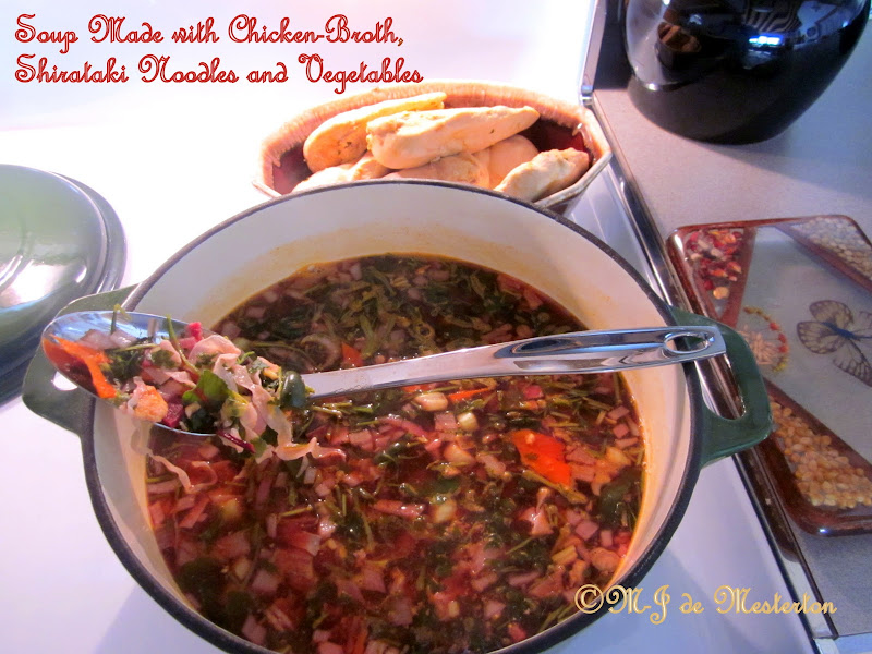 The elegant vegetable soup is ready to serve. title=