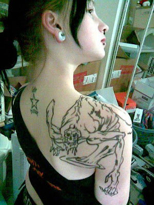 Ghost Tattoo In Body Girl