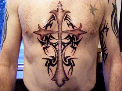 Tribal+cross+tattoo+designs Cross tattoos history and design