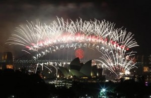 2011 fireworks: world celebrates New Year