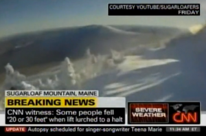Breaking News: CNN Talks Live To Skier Trapped On Chair Lift In Maine