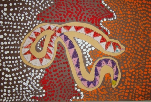 Aboriginal Dot Paintings Animals http://thomaselementaryart.blogspot.com/2010/10/3rd-grade-aboriginal-animals.html