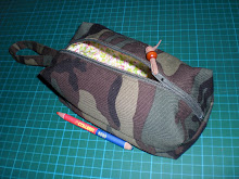 Lined Zippered Boxy Pouch Tutorial