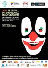 """""""XVI FESTIVAL INTERNACIONAL DE LA ORALIDAD"""" en homenaje al Gran Circo Razzore"""