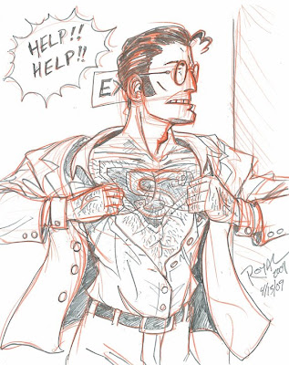 Super Man Tattoo Sketch 01
