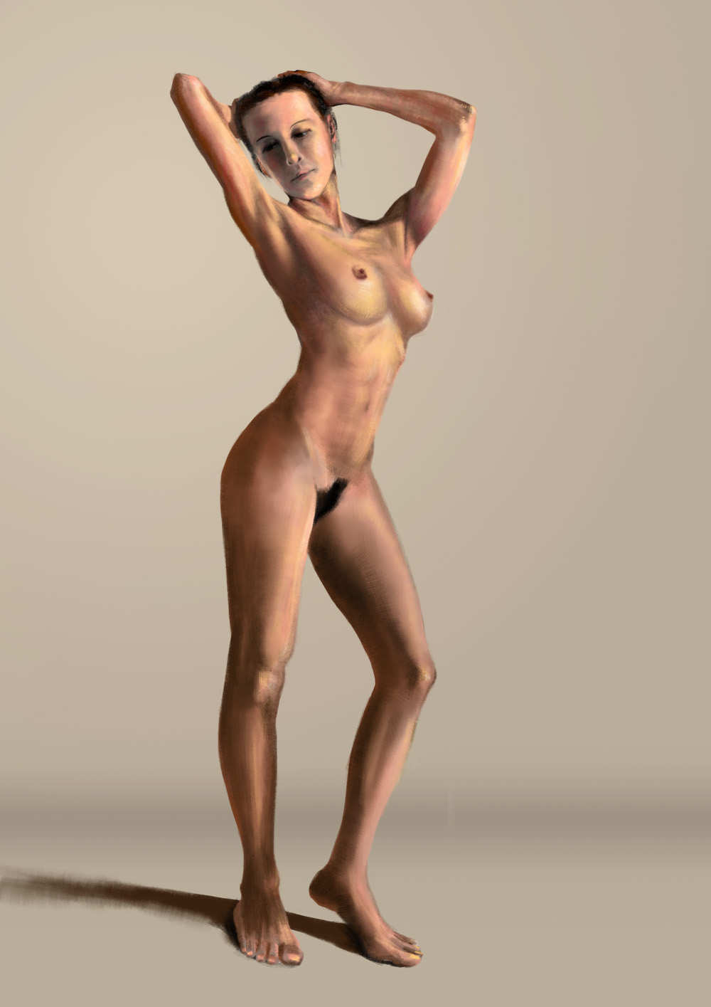 [PhotoshopCS4]Female nude study & WIP. Posted by ACGM at 10:42 PM