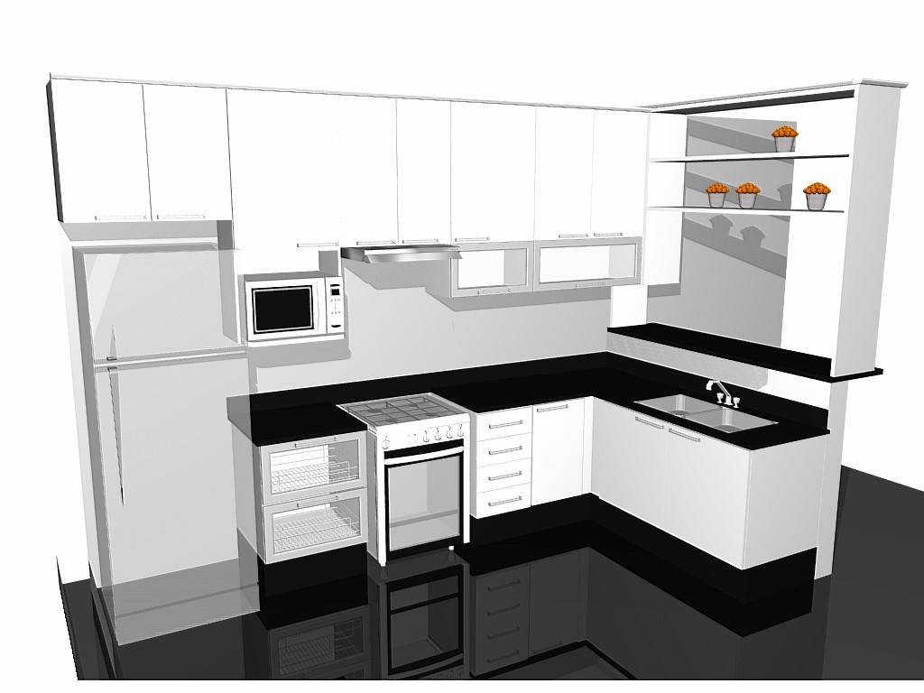 Foto: Cozinha com piso em porcelanato polido bancadas em granito São  #BD620E 1024 768