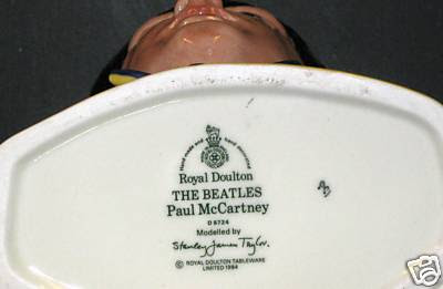 Bottom of Paul McCartney Royal Doultan D6724 Mug