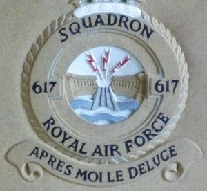 Motto of Royal Air Force Squadron 617 - After me the flood