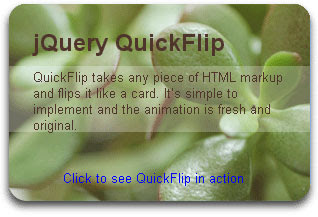 QuickFlip jQuery Plugin
