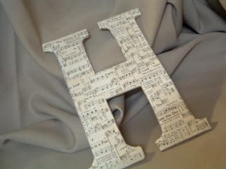 DIY Chipboard Monogram {Sheet Music Letter}