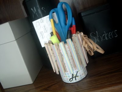 Recycled Can Desk Organizer - * THE COUNTRY CHIC COTTAGE (DIY ...