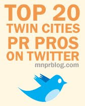 MNPR Top 20: The Twin Cities Most Influential PR Professionals on Twitter