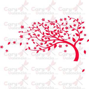 Cary valencia vinilo decorativo rbol rojo - Vinilos decorativos en valencia ...