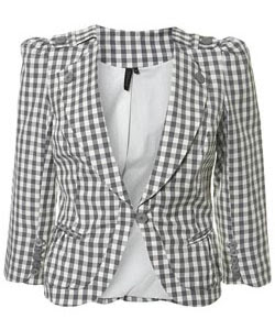 TopShop gingham jacket - It's fashion, dahling!
