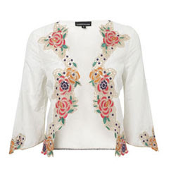 Warehouse silk embroidered cover up - It's fashion, dahling