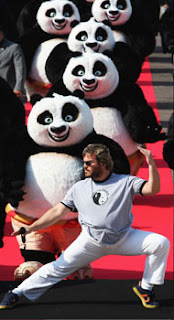 Jack Black at Cannes with Kung Fu Panda - It's fashion, dahling