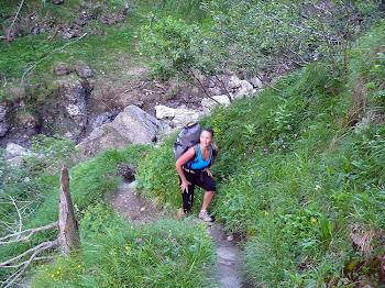 urcand pe Valea Caraiman