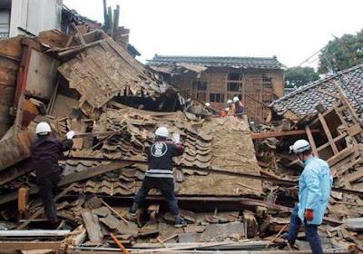 Niigata quake damage
