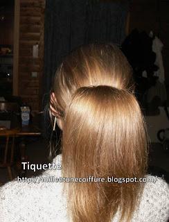 coiffure remontée