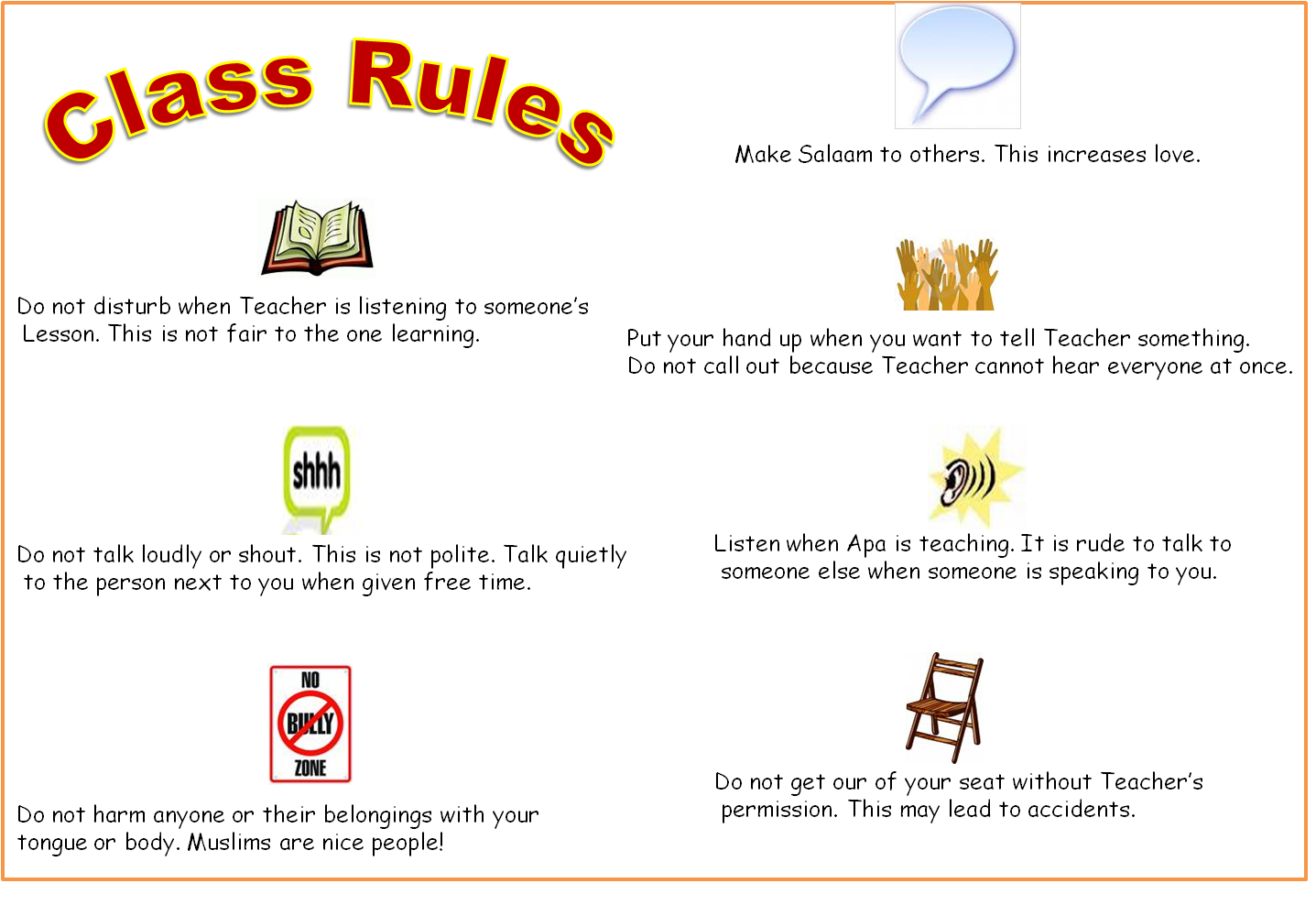Worksheets Classroom Rules Worksheet classroom rules tasheel tadrees on 1 comments