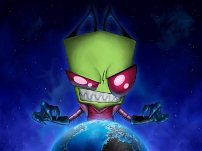 invader zim wallpaper. PSP Games - Invader Zim Gir
