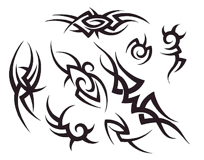 Tribal Cross Tattoo stock